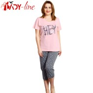 Pijamale Vienetta Secret, Bumbac 100%, 'HEY Girls Rule'