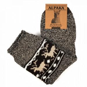 Sosete Calduroase din Lana de Oaie Naturala Alpaka 'Winter Tradition' Brown