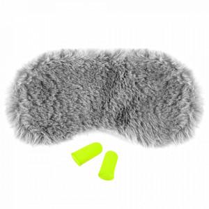 Masca Dormit 'Fluffy Gray' si Antifoane Interne Urechi
