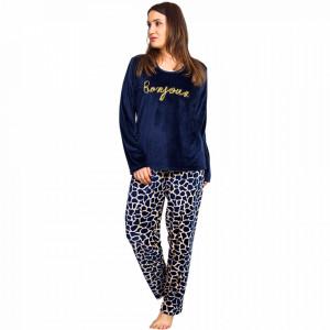Pijamale Dama Marimi Mari Vienetta, 'Wild Life - Bonjour' Blue