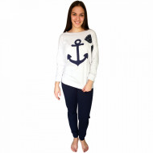 Pijamale Dama Bumbac 100%, Brand Charachter, 'Sailing Love'