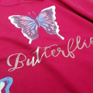 Camasa de Noapte din Bumbac Marimi Mari Vienetta Model 'Butterflys' Burgundy