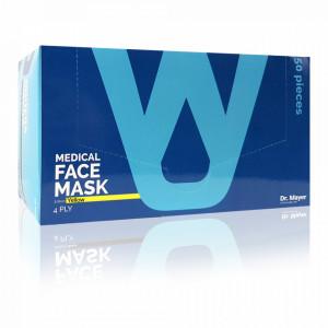Masca Faciala Medicala cu 4 Straturi Dr. Mayer Yellow Edition, Cutie 50 Bucati