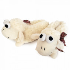 Papuci de Casa Caldurosi, 'Fluffy Sheep', Slapi Imblaniti Interior