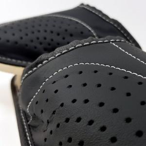 Papuci de Casa Imblaniti cu Lana de Oaie Culoare Negru Model Royal Black