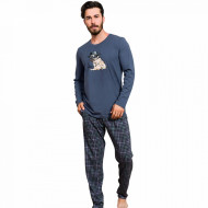 Pijama Barbati Bumbac 100% Gazzaz by Vienetta 'My little Hero' Gray