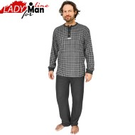 Pijamale Barbati Calduroase, Contro Senso, 'Domino Perfection' Gray