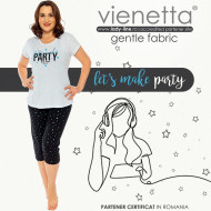 Pijamale Confortabile Dama Marimi Mari Vienetta Model 'Let's Make Party'