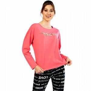 Pijamale Confortabile Dama Vienetta Model 'Day of Love' Pink