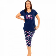 Pijamale Confortabile Marimi Mari Vienetta Model 'Good Morning' Blue