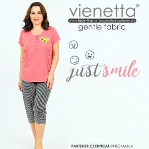 Pijamale Confortabile Marimi Mari Vienetta Model 'Just Smile'