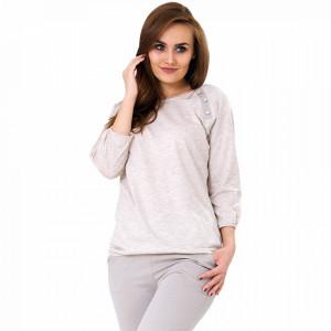 Pijamale Dama Bumbac, M-Max, Model 'Simple & Stylish' Cream