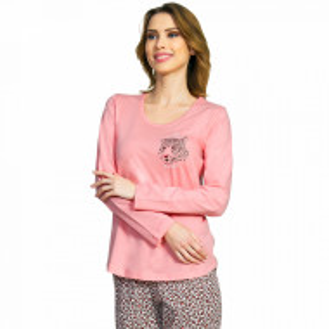 Pijamale Dama Bumbac Vienetta, Model 'Be Wild and Beautiful'