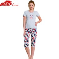 Pijamale Dama cu Pantalon 3/4, Vienetta Secret, 'Surprise'