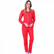 Pijamale Dama Maneca si Pantalon Lung Model 'Hot and Classic'