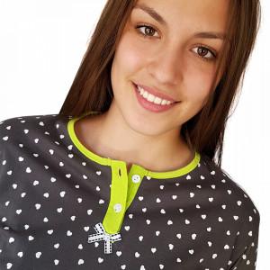 Pijamale Dama Maneca si Pantalon Lung, Senso, Model I'm In Love