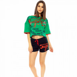Pijamale Dama Manesca Scurta Pantalon Scurt Vienetta Model 'Superior Brooklyn'