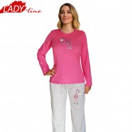 Pijamale Dama Toamna, Model Best Day Ever, Producator Benter Fashion Wear, Bumbac 100%, Culoare Fuchsia