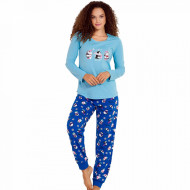 Pijamale Dama Vienetta, 'Cute Penguine' Blue