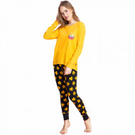Pijamale Dama Vienetta Dream, 'Holy Guacamole' Yellow
