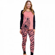 Pijamale Dama Vienetta Dream Model 'Beauty Zebra' Pink