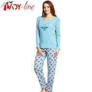 Pijamale Dama Vienetta Secret, Bumbac 100%, 'Grateful' Turquoise