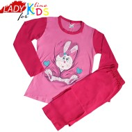 Pijamale Fetite, Model Cute Bunny, Brand Baki Collection, Bumbac 100%, Culoare Roz, Pijamale Copii