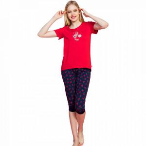 Pijamale Vienetta Dama, 'Live Love Laugh'' Red