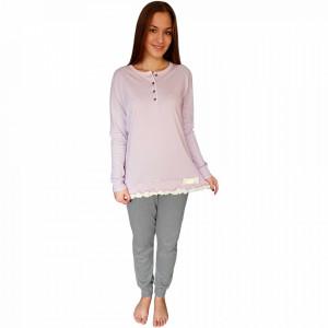 Woman's Pajams L'Originale, 100% Cotton, 'Spring Of Lilac'