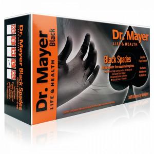 Manusi Examinare Nitril Nepudrate Negre Dr. Mayer 100 Bucati