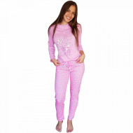 Pijamale Dama Bumbac Natural, Senso, 'Love Much Live Well' Pink