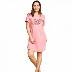 Camasa Dama din Bumbac, Vienetta, Model My Heart for You Pink