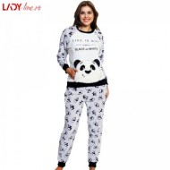 Compleu Extra Soft Dama, Vienetta, Model 'Panda - Black or White'