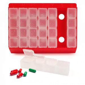 Cutie Organizator Medicamente pe Zile si Ore Inclusiv pentru Nevazatori, Meddo