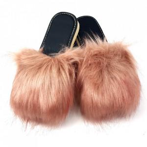 Papuci de Casa cu Blanita Culoare Roz Mineral Model 'Lounge Desire' Pink