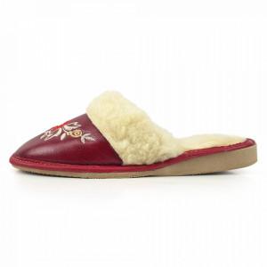 Papuci de Casa Dama Imblaniti cu Lana de Oaie Model  'Akna Rogue' Winter