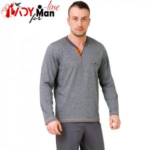 Pijama Barbati, Bumbac 100%, 'Orange The New Gray', M-M Nightwear