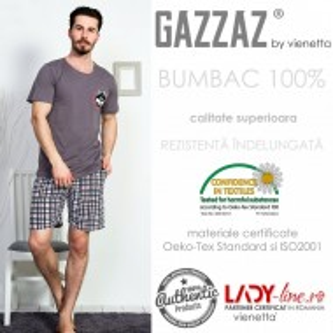Pijama Barbati Gazzaz by Vienetta, 'Husky'
