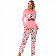 Pijama Dama Bumbac Interlock, Fawn, 'Let's Just Sleep'