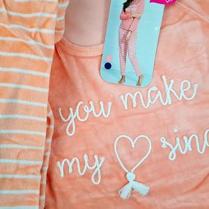 Pijama Dama Soft Velur Vienetta Model 'You Make My Heart Sing' Pink