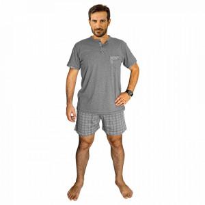 Pijamale Barbati Bumbac 100%, Brand Charachter, 'Odysseus' Grigio Mel