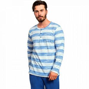 Pijamale Barbati Bumbac 100% Gazzaz by Vienetta 'Cottage'