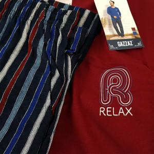Pijamale Barbati Bumbac 100% Gazzaz by Vienetta 'Relax' Burgundy