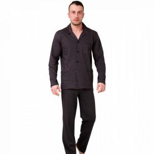 Pijamale Barbati cu Nasturi, Bumbac 100%, 'Classic Line', M-Max