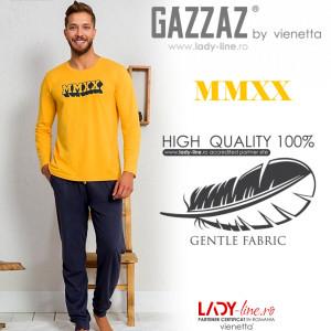 Pijamale Barbati din Bumbac 100% Gazzaz by Vienetta 'MMXX'
