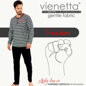 Pijamale Barbati Marimi Mari Gazzaz by Vienetta Model 'Freedom'