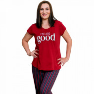 Pijamale Confortabile Marimi Mari Vienetta Model 'Feeling Good'.