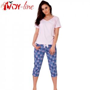 Pijamale Dama, Bumbac 100%, 'Pure Pink'