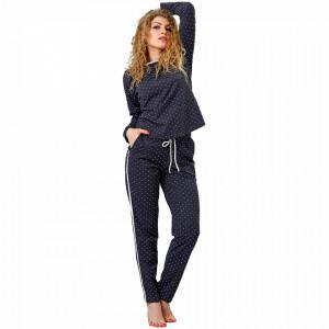 Pijamale Dama M-Max, Bumbac 100%, 'Freedom and Love'