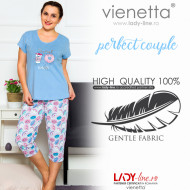 Pijamale Dama Marimi Mari, Vienetta, 'Perfect Couple' Blue